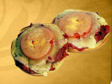 Pastrami & Swiss at Einstein Bros. Bagels