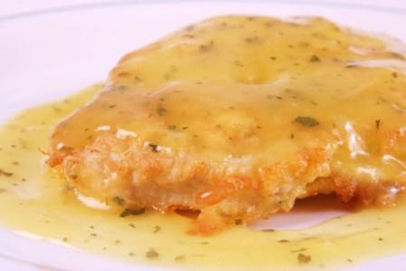 Breast of Chicken Francaise with White Wine Lemon Sauce at Top Chef Meals