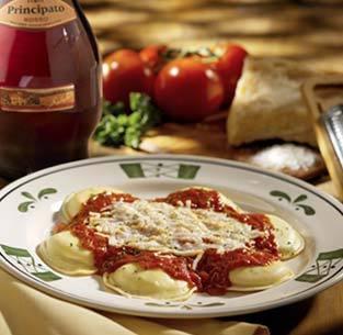 Cheese Ravioli at Olive Garden