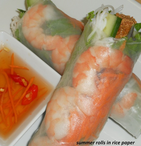 summer rolls in rice paper at French Baguette