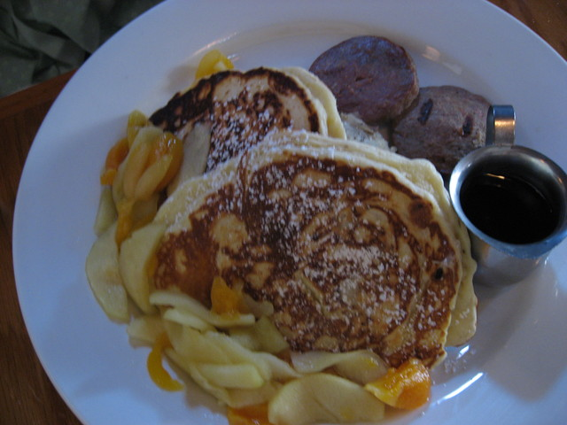 Apple and Apricot Pancakes at Jane's