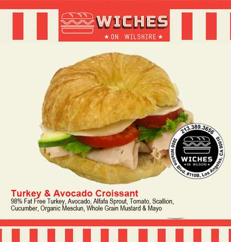Turkey Avocado Sandwich at Wiches on Wilshire