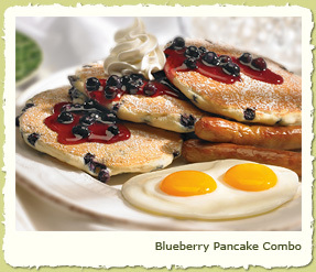 BLUEBERRY PANCAKE COMBO at Coco's