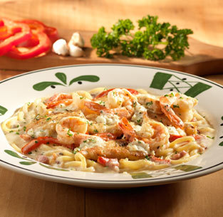 Chicken & Shrimp Carbonara at Olive Garden