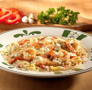 Chicken & Shrimp Carbonara at Olive Garden