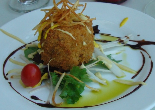 House Made maryland Crab Cake at Caffe Capri
