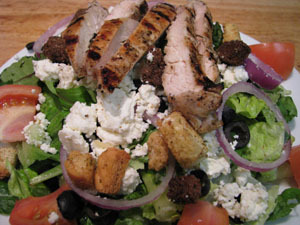 Krazy Karry's - Salad w/Grilled Chicken - Salad with Grilled Chicken at Krazy Karry's (CLOSED)