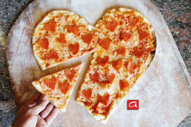 Heart Shaped Pepperoni Pizza - Heart Shaped Pepperoni Pizza at Antonios Pizza & Italian Restaurant