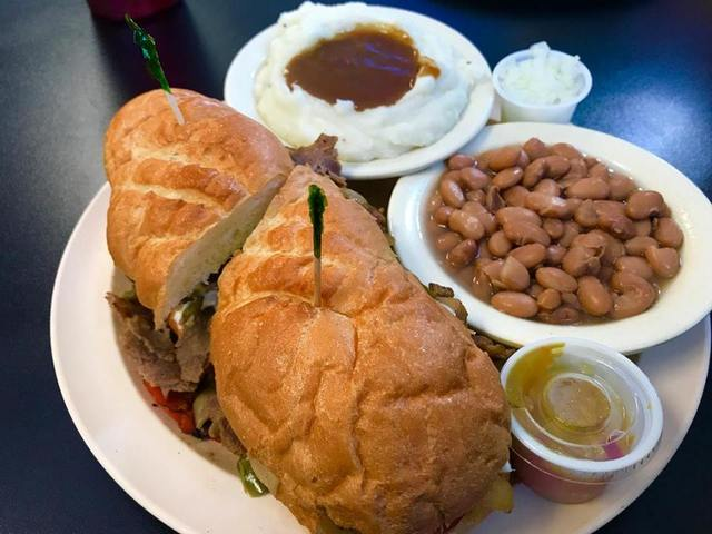 Philly Steak and Cheese at Moondoggy's Classic Diner