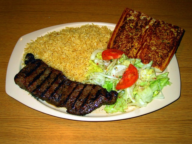 n.y Steak Plate at Squabs Gyros