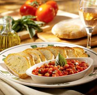 Bruschetta at Olive Garden