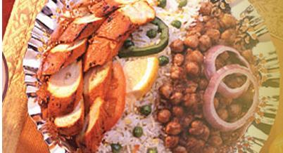Dish at Gourmet India