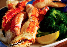 North Pacific King Crab Legs at Red Lobster