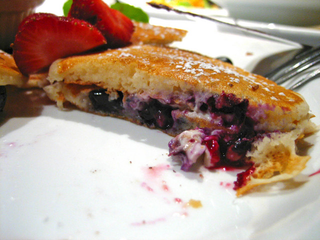 Silver Dollar Blueberry Pancakes at AGAVE