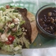 Gyro Taco and Black Beans with Green Chiles - Gyro Taco at White Duck Taco Shop