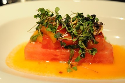 Heirloom Tomato and Watermelon Salad at B&O American Brasserie