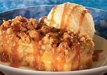 Warm Apple Crumble a la Mode at Red Lobster