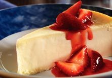 New York-Style Cheesecake with Strawberries at Red Lobster