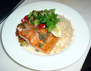 Fresh Salmon Pan Seared With Lemon Caper Dill Sauce at DuckTales Kitchen