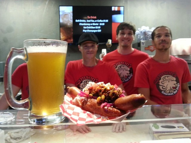 Beer, Weenie, and Fun - Samson's Dog at Samson's Gourmet Hot Dogs