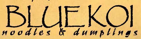 Logo at BLUE KOI Noodles & Dumplings