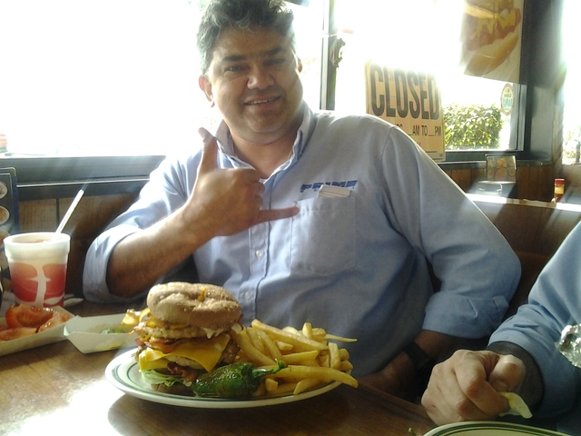 Its really good - Triple Bacon Cheese Turkey Burger at columbia restaurant