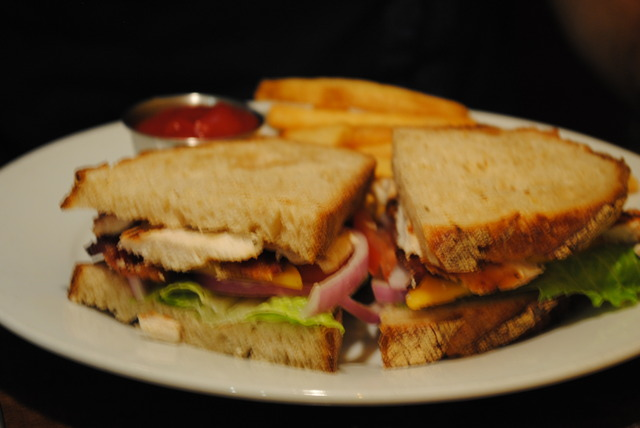 Chicken Club Sandwich at Cafe Nola