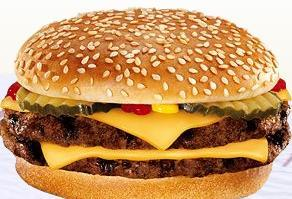 Double Cheeseburger at Taxi's Hamburgers