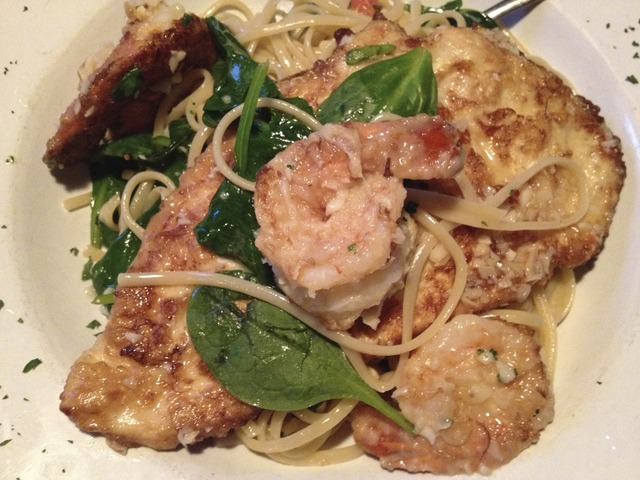 Chicken and Shrimp Florentine at Lucia's Pizza Italian Grill