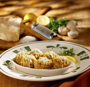 Stuffed Mushrooms at Olive Garden