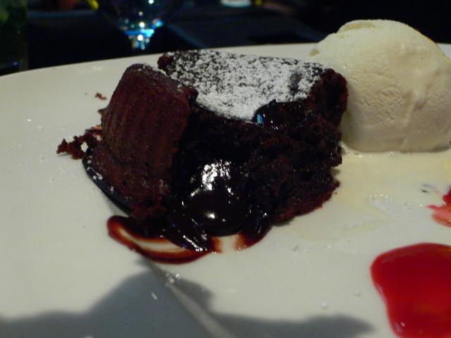 Chocolate Souffle at Joeys