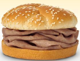 MEDIUM ROAST BEEF SANDWICH: at Arby's