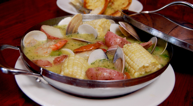 Great Seafood in Huntington Beach - Seafood Boil at Hangout Too Southern Bar & Grill