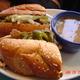 Sliced 'steak' - Philly Cheese  Steak at Chicago Diner