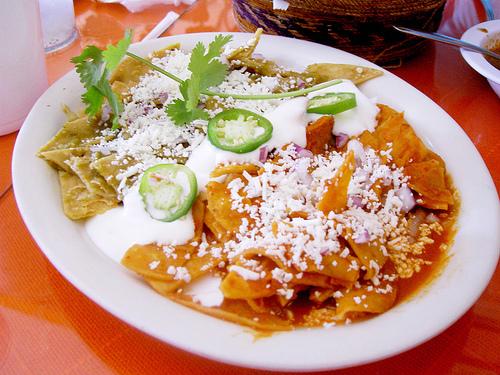 Divorced Chilaquiles at LA Casita Mexicana