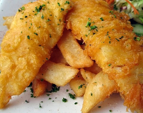 Fish and Chips at Grillicious Cafe