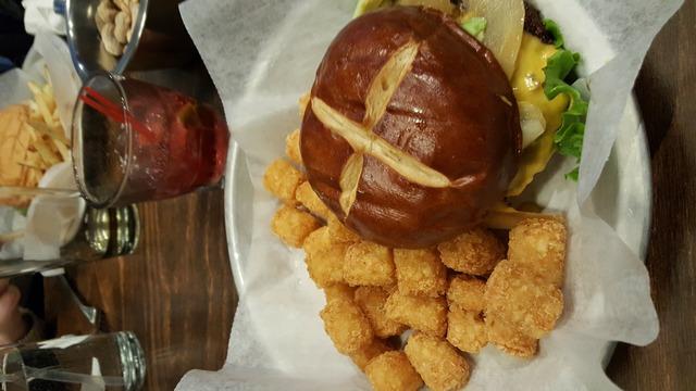 The Milwaukee Burger at AJ Bombers