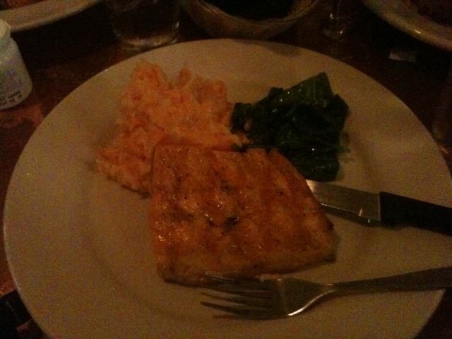 Artic Char, Mashed Potatoes, Spinach at Girasole
