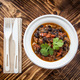 Our fresh chili is very delicious and locally sourced - Vegetarian Black Bean Chili at Cafe UTEC