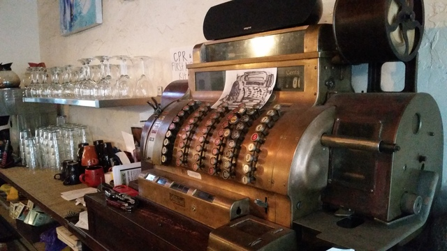 Cash register from the 1920's!! - Interior at Juniper