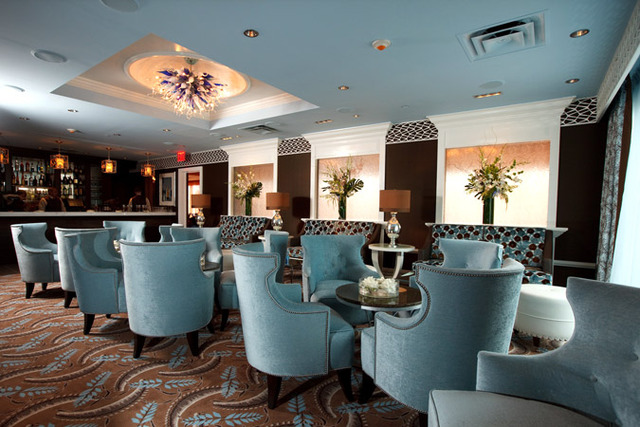 Vetro Restaurant & Lounge - Blue Lounge - Interior at Vetro by Russo's on the Bay
