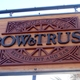 Hanging Sign Welcoming Patron at the Main Entrance - Logo at Bow & Truss