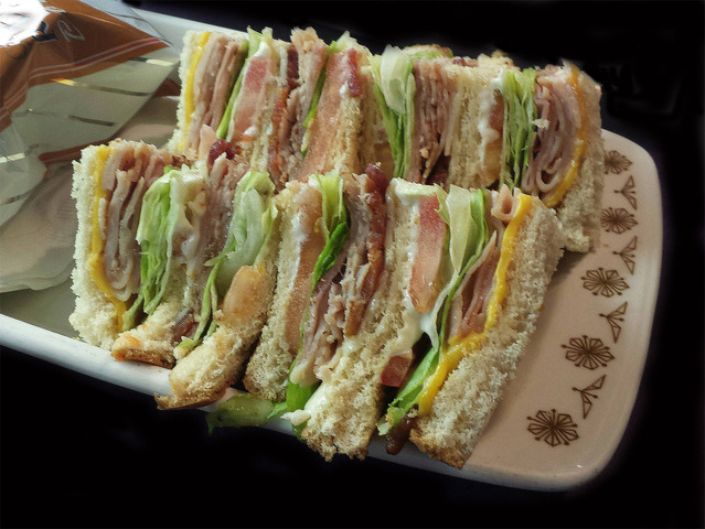 Classic Club Sandwich at Mean Woman Grill