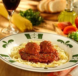 Spaghetti & Meatballs at Olive Garden