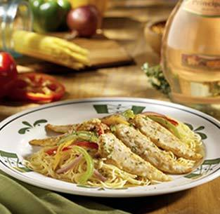 Chicken Scampi at Olive Garden