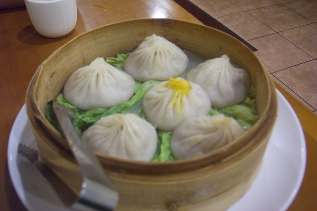 Steamed Crab Meat and Pork Buns at Nan Xiang Xiao Long Bao