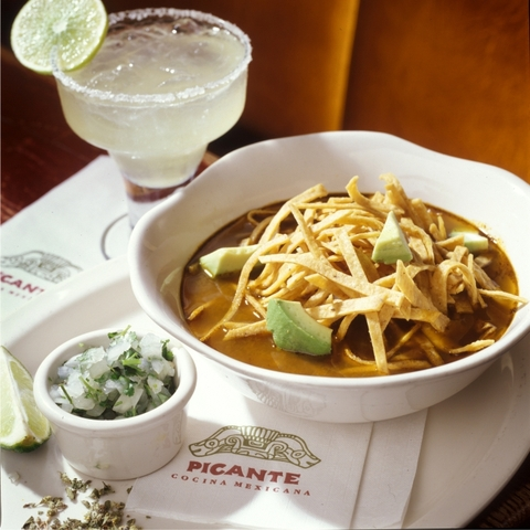 as good as the gods said it was, sopa azteca: chicken soup for your inner god - sopa azteca at Picante