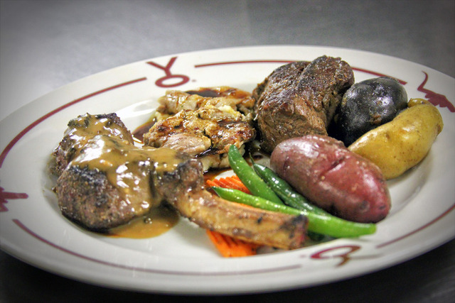 Wild Game Mixed Grill entrée - MIXED GRILL at Y.O. Ranch Steakhouse