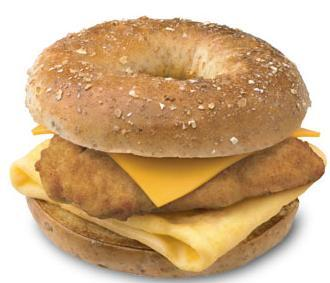 Chicken, Egg & Cheese Bagel at Chick-fil-A
