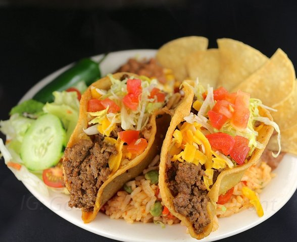 Tacos Plate at columbia restaurant
